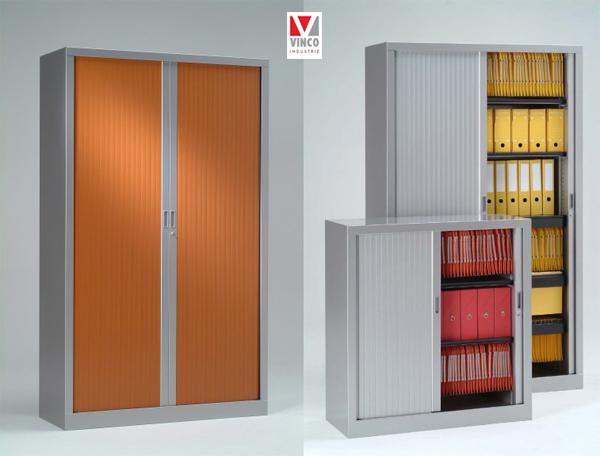 Armoire de bureau couleur for Armoire bureau professionnel